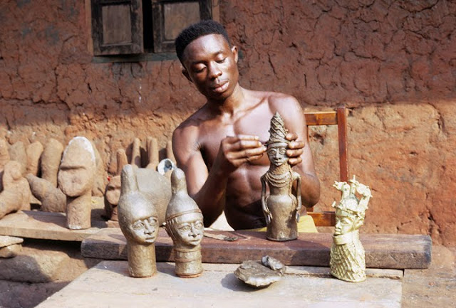 Contemporary Benin brassworker